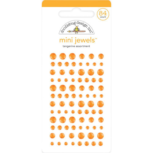 Doodlebug Monochromatic Mini Jewels: Tangerine