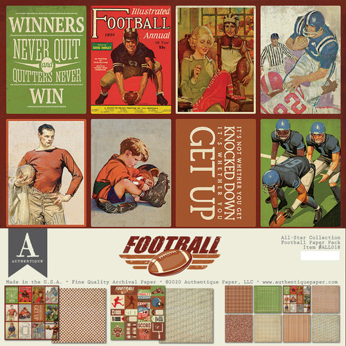 Authentique All-Star Paper Pack: Football