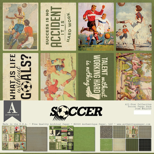 Authentique All-Star Paper Pack: Soccer