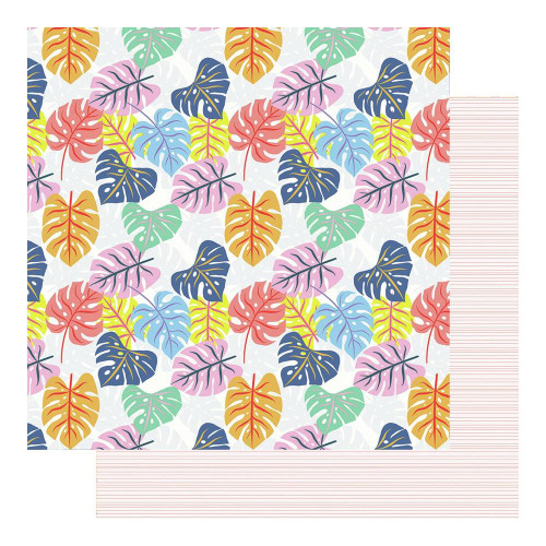 Fancy Pants Vitamin Sea 12x12 Paper: Tropical Leaves