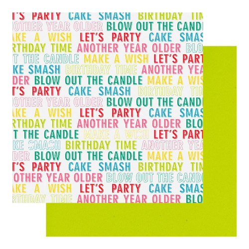 Fancy Pants Cake Smash 12x12 Paper: Birthday Wishes