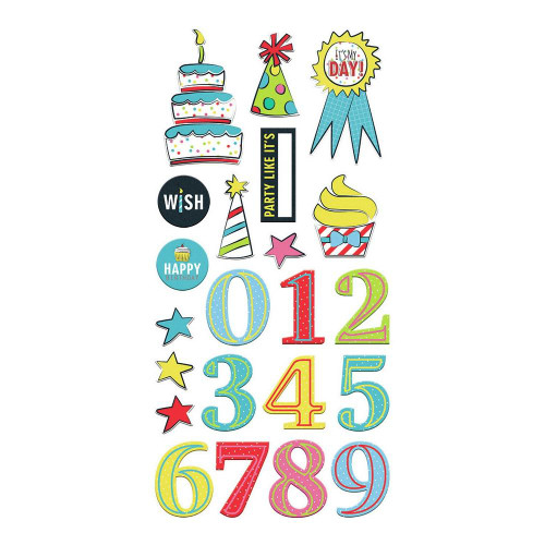 Fancy Pants Cake Smash 6x12 Chipboard Stickers