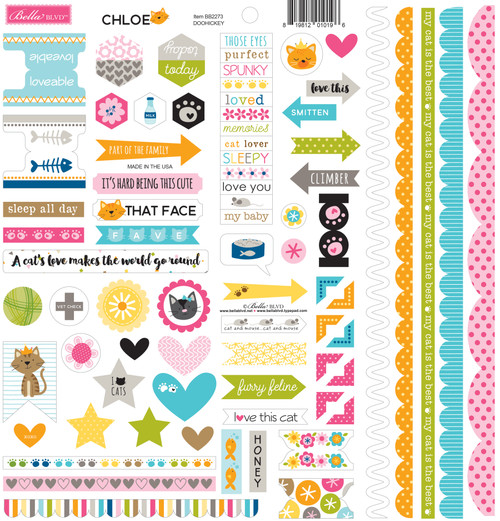 Bella Blvd Chloe Doohickey Cardstock Stickers