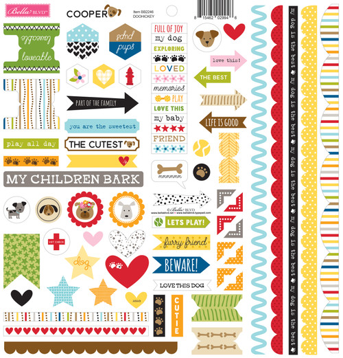 Bella Blvd Cooper Doohickey Cardstock Stickers