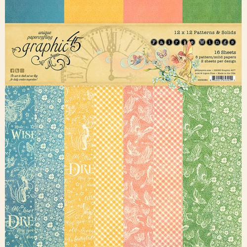 Graphic 45 Fairie Wings 12x12 Patterns & Solids Paper Pad