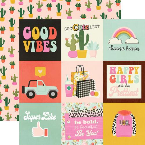 Simple Stories Kate & Ash 12x12 Paper: 4x4 Elements