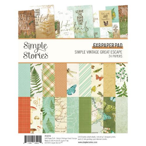 Simple Stories Simple Vintage Great Escape 6x8 Pad