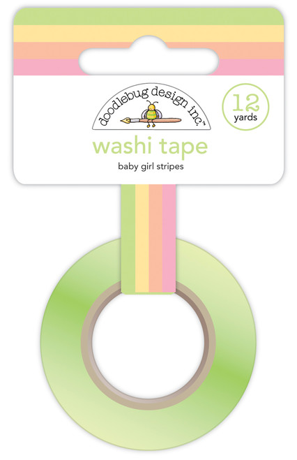 Doodlebug Bundle of Joy Washi Tape: Baby Girl Stripes