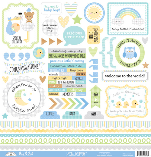 Doodlebug Special Delivery Stickers: This & That