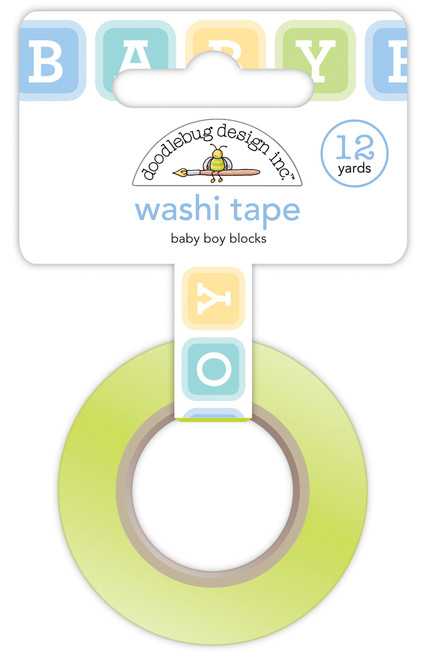 Doodlebug Special Delivery Washi Tape: Baby Boy Blocks