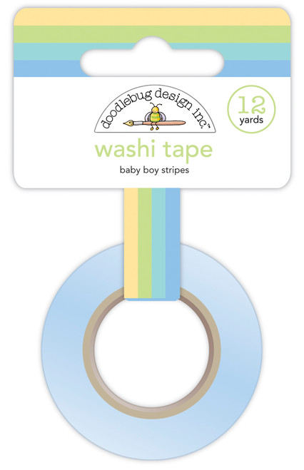 Doodlebug Special Delivery Washi Tape: Baby Boy Stripes