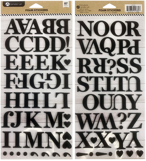 Hampton Art Foam Sticker Set: Alphabet #2