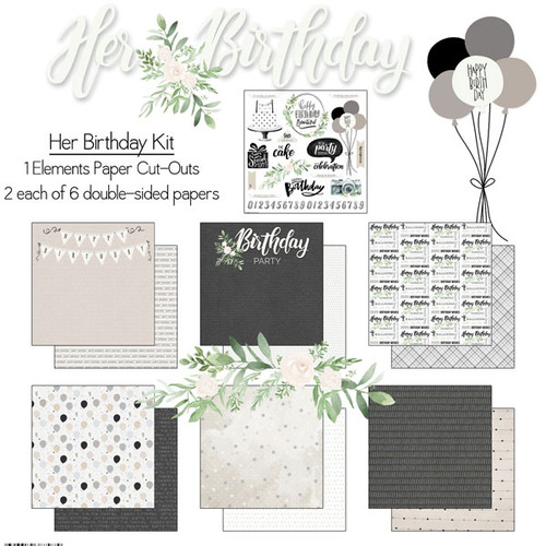 Scrapbook Customs 12x12 Birthday Themed Collection Pack: Hers