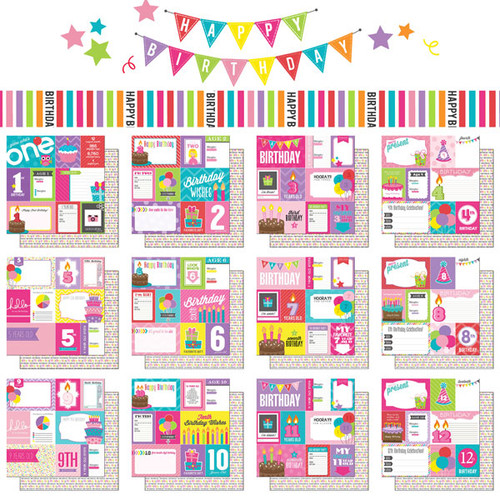 Scrapbook Customs Birthday Girl 12x12 Collection Pack
