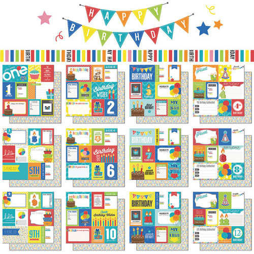 Scrapbook Customs Birthday Boy 12x12 Collection Pack