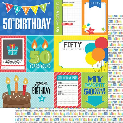 Scrapbook Customs Birthday 12x12 Paper: 50th