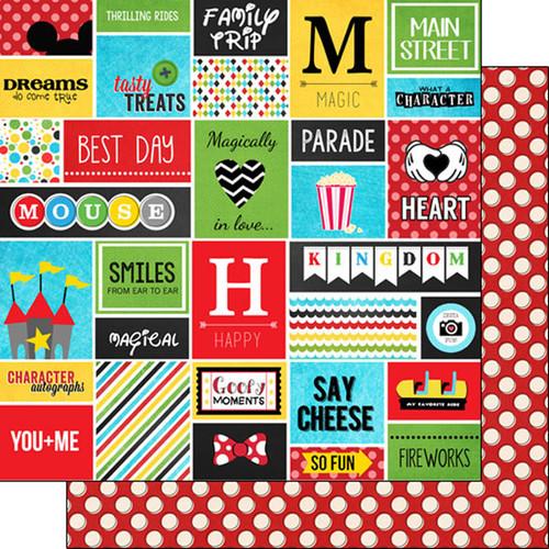 Scrapbook Customs 12x12 Disney Themed Paper: Adventure Collage