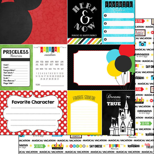 Scrapbook Customs 12x12 Disney Themed Paper: Adventure Journal