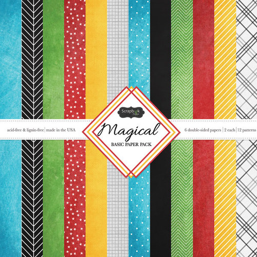Scrapbook Customs 12x12 Disney Themed Paper Pack: Magical Basics