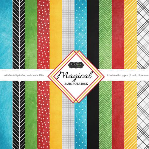 Scrapbook Customs Magical 12x12 Basic Paper Pack