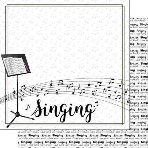 Scrapbook Customs 12x12 Paper: Singing Notes