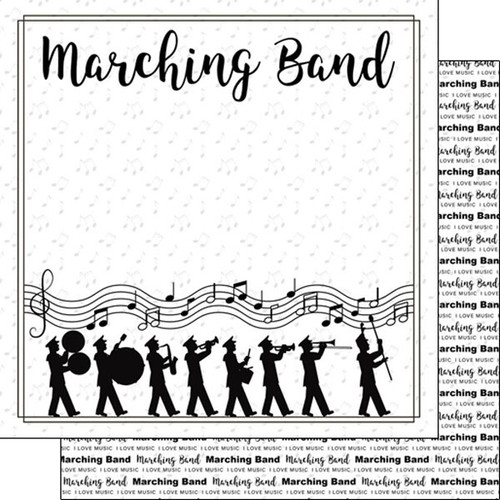 Scrapbook Customs 12x12 School Themed Paper: Marching Band