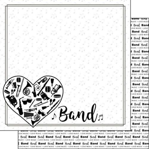 Scrapbook Customs 12x12 Paper: Band Instruments