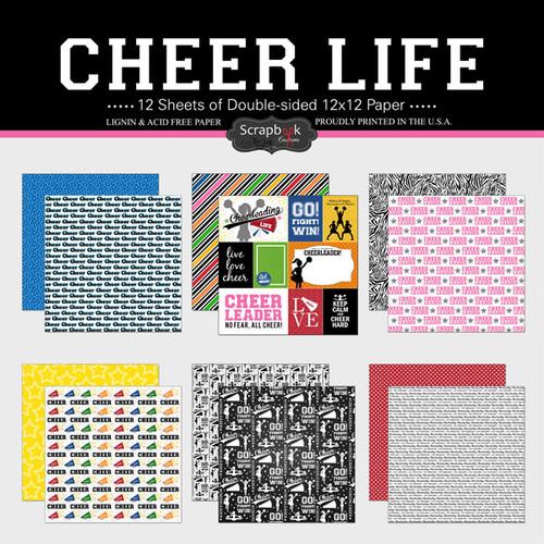Scrapbook Customs 12x12 Paper Pack: Cheer Life