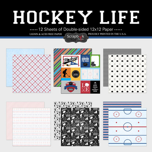 Scrapbook Customs 12x12 Paper Pack: Hockey Life