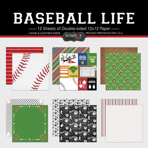 Scrapbook Customs 12x12 Paper Pack: Baseball Life