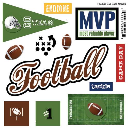 Scrapbook Customs Doo-Dads Stickers: Football
