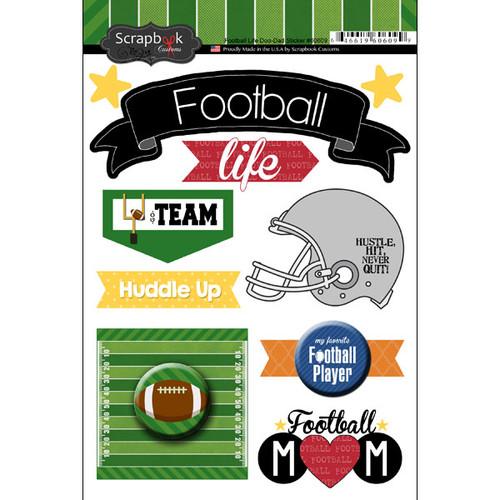 Scrapbook Customs Large Doo-Dads Stickers: Football Life