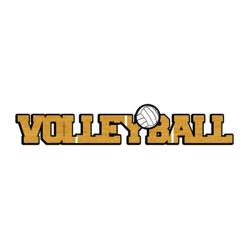 Scrapbook Customs Laser Cut Title: Dimensional Volleyball