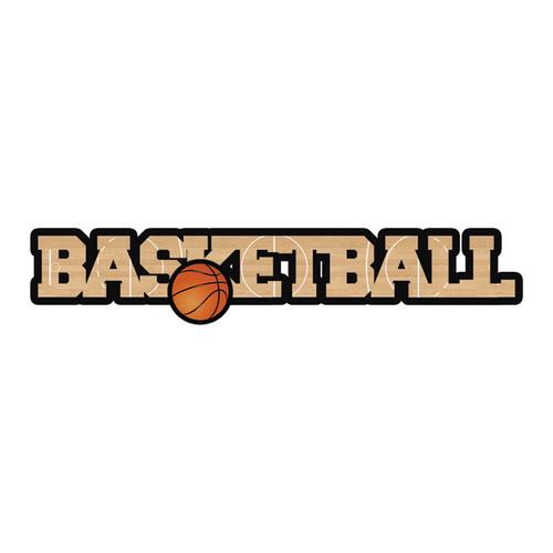 Scrapbook Customs Laser Cut Title: Dimensional Basketball