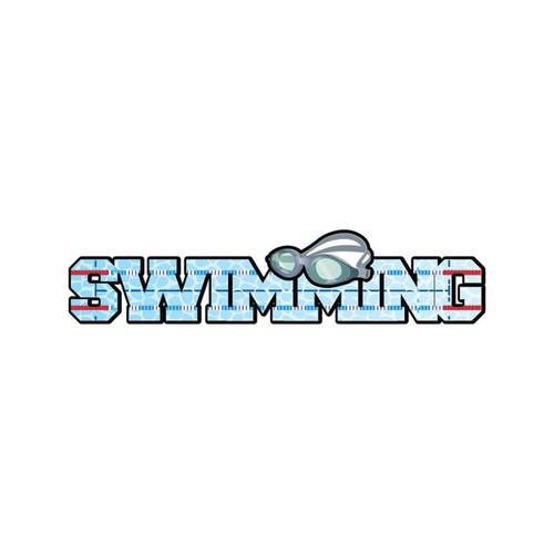 Scrapbook Customs Laser Cut Title: Dimensional Swimming