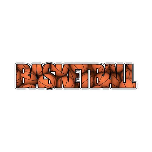 Scrapbook Customs Laser Cut Title: Basketball Image Word
