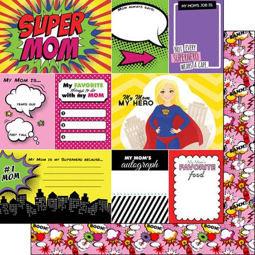 Scrapbook Customs 12x12 Paper: Super Mom