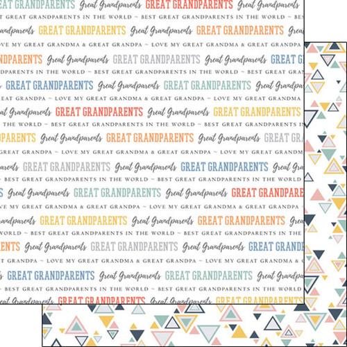 Scrapbook Customs Family Pride 12x12 Paper: Great Grandparents