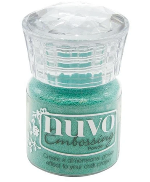Nuvo Embossing Powder: Turquoise Lagoon