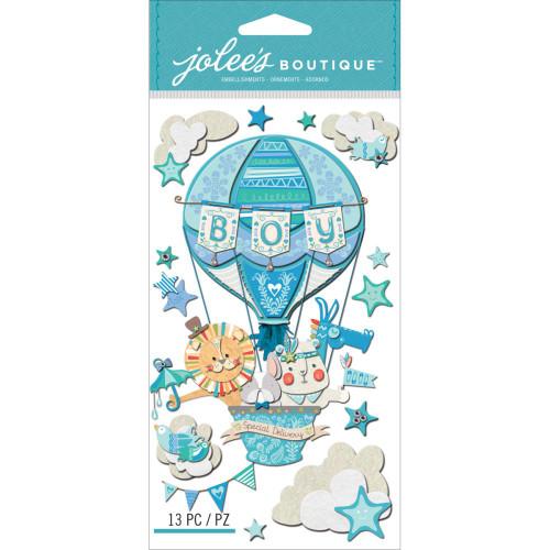 Jolee's Boutique Le Grande Dimensional Stickers: Baby Boy Special Delivery