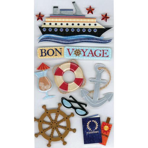 Jolee's Boutique Le Grande Dimensional Stickers: Bon Voyage