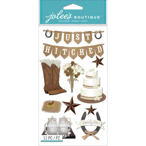 Jolee's Boutique Le Grande Dimensional Stickers: Western Wedding