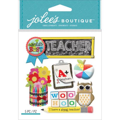 Jolee's Boutique Dimensional Stickers: Teacher