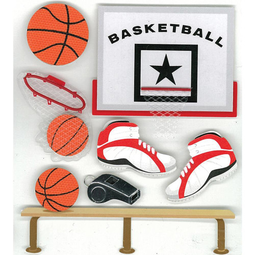Jolee's Boutique Dimensional Stickers: Basketball