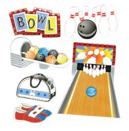 Jolee's Boutique Dimensional Stickers: Bowling Alley