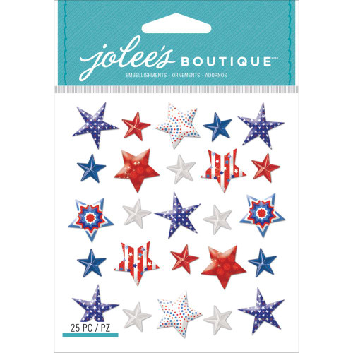 Jolee's Boutique Dimensional Stickers: Patriotic Stars