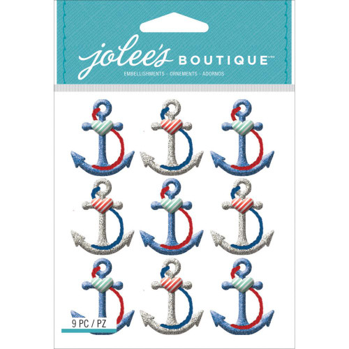 Jolee's Boutique Dimensional Stickers: Anchors Repeat