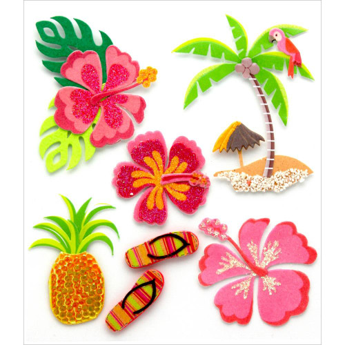 Jolee's Boutique Dimensional Stickers: Hawaiian