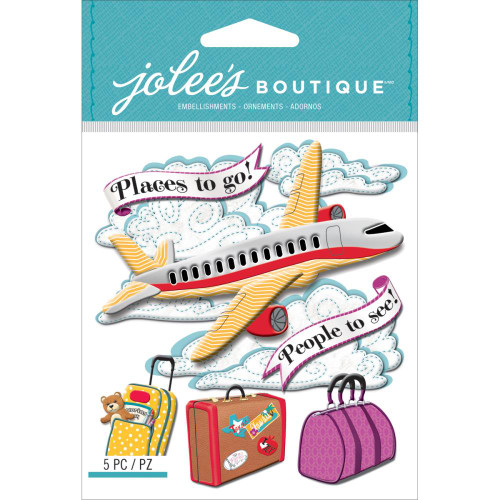 Jolee's Boutique Dimensional Stickers: Airplane