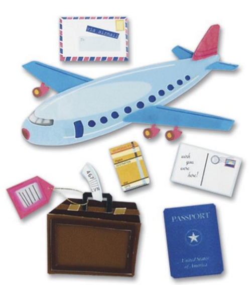 Jolee's Boutique Dimensional Stickers: Airplane Travel